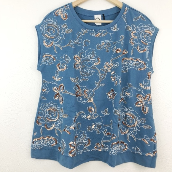 Anthropologie Tops - Anthro | Akemi + Kin Boxy Embroidered Top